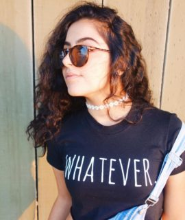 Whatever t-shirt with overalls